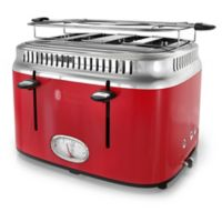 Russell Hobbs 4-Slice Retro Style Toaster in Red/Stainless Steel