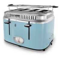 Russell Hobbs 4-Slice Retro Style Toaster in Blue/Stainless Steel