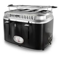 Russell Hobbs 4-Slice Retro Style Toaster in Black/Stainless Steel