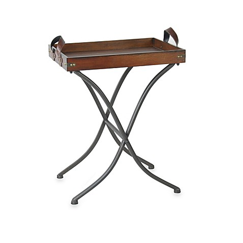 Snack Table with Removable Butler Tray