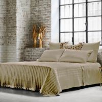 Frette At Home Vertical King Coverlet in Stone