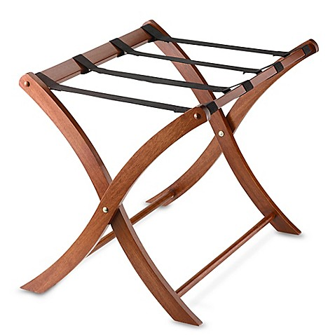 Solid Wood Luggage Rack In Walnut Bed Bath amp Beyond