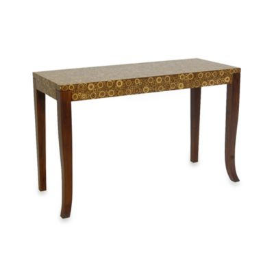 Lovely Jeffan International Habitat Console Circle Pattern Table