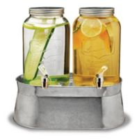 Circleware Lancaster 120 oz. Dual Drink Beverage Dispensers in Clear