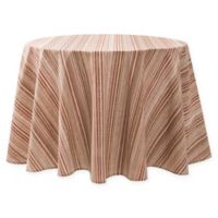 Textured Stripes Laminated 70-Inch Round Tablecloth