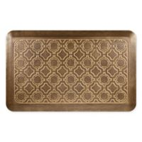 Smart Step Home Moroccan 20-Inch x 32-Inch Kitchen Mat in Brushed Gold