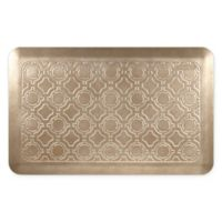 """Moroccan 32"""" x 20"""" Kitchen Mat in Salted Caramel"""