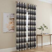 Dominic Stripe 63-Inch Grommet Window Curtain Panel in Grey