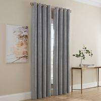 Dominic 63-Inch Grommet Window Curtain Panel in Grey