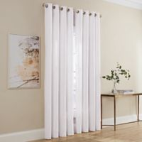 Dominic 84-Inch Grommet Window Curtain Panel in White