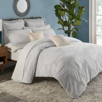 KAS ROOM Terrell King Duvet Cover in Grey