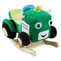 Happy Trails Plush Rocking Tractor Ride-On in Green