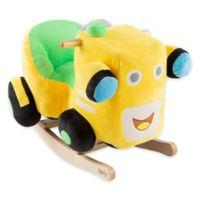 Happy Trails Plush Rocking Train Ride-On in Yellow