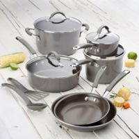 Rachael Ray™ Cucina 12-Piece Hard Enamel Cookware Set in Sea Salt Grey
