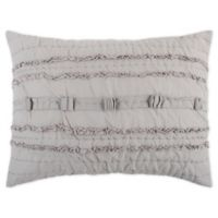 Rizzy Home Hattie Standard Pillow Sham in Grey