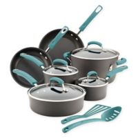 Rachael Ray® Hard-Anodized Nonstick 12-Piece Cookware Set in Grey/Agave