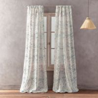 Peri Home Dayna Print 108-Inch Rod Pocket Window Curtain Panel in Teal