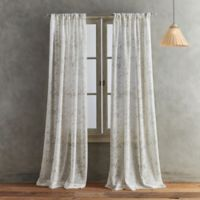Peri Home Dayna Print 108-Inch Rod Pocket Window Curtain Panel in Linen