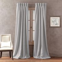 Peri Home Dayna Solid 95-Inch Pinch Pleat Window Curtain Panel in Grey