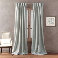 Peri Home Dayna Solid 95-Inch Pinch Pleat Window Curtain Panel in Aqua