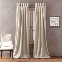 Peri Home Dayna Solid 95-Inch Pinch Pleat Window Curtain Panel in Linen