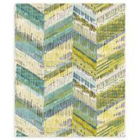 Arthouse Chevron Weave Wallpaper in Lime
