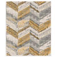 Arthouse Chevron Weave Wallpaper in Ochre