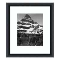 Amanti Art Snow Covered Mountain Glacier Nat Park 25-Inch x 29-Inch Framed Art Print
