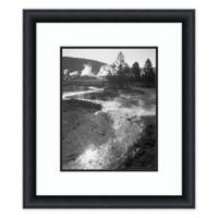 Amanti Art Stream Winding Back Toward Geyser 25-Inch x 29-Inch Framed Art Print