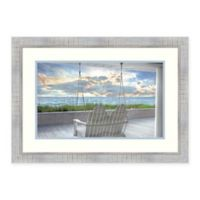 Amanti Art Swing At The Beach 28-Inch x 20-Inch Framed Art Print