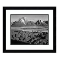Amanti Art View Toward Mount Moran, WY , 1941 29-Inch x 25-Inch Framed Art Print