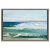 Amanti Art Azure Ocean 23-Inch x 16-Inch Framed Canvas Wall Art