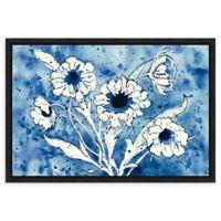 Amanti Art Batik Flowers Crop 23-Inch x 16-Inch Framed Canvas Wall Art