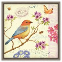 Amanti Art Birds and Bees II 16-Inch Square Framed Canvas Wall Art
