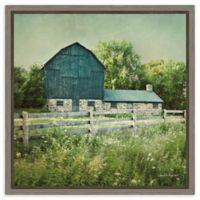 Amanti Art Blissful Country III (Barn) 16-Inch Square Framed Canvas Wall Art