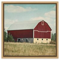 Amanti Art Blissful Country VI Crop (Barn) 16-Inch Square Framed Canvas Wall Art