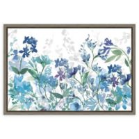 Amanti Art Colors of the Garden Cool Shadows 23-Inch x 16-Inch Framed Canvas Wall Art
