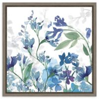 Amanti Art Colors of the Garden III Cool Shadow 16-Inch Square Framed Canvas Wall Art