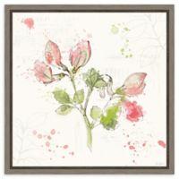 Amanti Art Floral Splash II 16-Inch Square Framed Canvas Wall Art