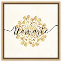 Amanti Art Namaste I 16-Inch Square Framed Canvas Wall Art
