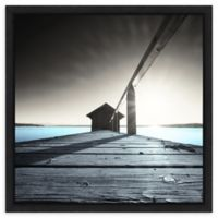 Amanti Art Old Boathouse by Anon 16-Inch Square Framed Canvas Wall Art