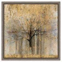 Amanti Art Open Arms Gold Crop 16-Inch Square Framed Canvas Wall Art