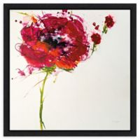 Amanti Art Poppy Master on White 16-Inch Square Framed Canvas Wall Art