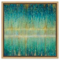 Amanti Art Rain Abstract I 16-Inch Square Framed Canvas Wall Art