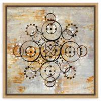 Amanti Art Saffron Mandala I Crop 16-Inch Square Framed Canvas Wall Art