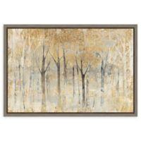 Amanti Art Seasons End Gold 23-Inch x 16-Inch Framed Canvas Wall Art