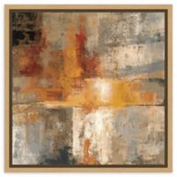 Amanti Art Silver and Amber Crop 16-Inch Square Framed Canvas Wall Art