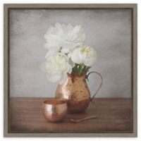 Amanti Art Vintage Peony Dreams III 16-Inch Square Framed Canvas Wall Art