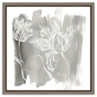 Amanti Art Water Wash I Neutral (Floral) 16-Inch Square Framed Canvas Wall Art