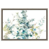 Amanti Art Eucalyptus I White Crop 23-Inch x 16-Inch Framed Canvas Wall Art